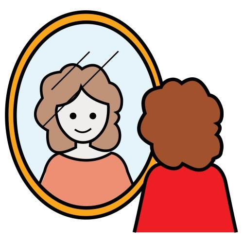 Entre mes diff rences a toi mon moi tout aide for Se voir dans un miroir